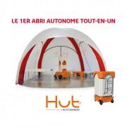 Abri de secours autonome et tout-en-un - Gonflage automatique (gonfleur et batterie intégrés)