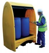 Abri de stockage 2 fûts - Capacité (L) : 250