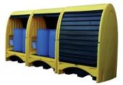 Abri de stockage 2 ou 4 fûts - Protection contre les intempéries et les vandalismes