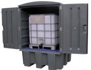 Abri de stockage de cubitainer - Capacité de rétention : 1000 Litres - 100% PEHD
