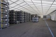 Abri de stockage démontable 100 m² - Portée : 5 à 30 m - Surfaces à partir de 100 m²