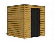 Abri de stockage en bois - Dimension (mm) : L 2000 x l 2000 x h 2200 ou L 3000 x l 3000 x h 2200