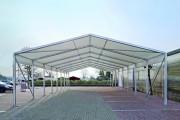 Abri de stockage provisoire - Portée : 5 à 30 m - Surfaces à partir de 150 mètres carrés
