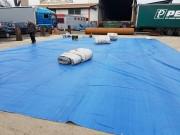 Abri de stockage souple - Bâche en PVC enduit double face 350 à 750 g/m² classé M2