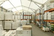 Abri de stockage temporaire à Longueur modulable - Portée de 5 à 20 m