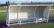 Abri de touche football en aluminium - Hauteur 1,6 m - en aluminium