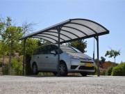Abri de voiture aluminium - Structure en aluminium - Dimensions extérieures (L x P x H) : 500 x 290 x 240 cm