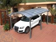 Abri de voiture en aluminium - Structure en aluminium peint et en acier galvanisé -  Dimensions ext.(L x P x H): 362 x 502 x 242 cm