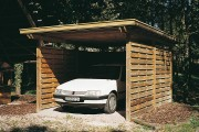 Abri de voiture en pin et sapin - Dimensions (L x P x H) : 3.50 x 5.00 x 2.50 ou 3.50 x 7.00 x 2.50 m