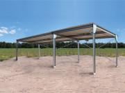 Abri en kit pour camping car - Abri métallique en kit 20m² monopente