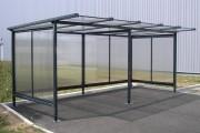 Abri fumeur avec toit plat - Hauteur : 2 m - Pente : 5%