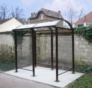 Abri fumeur espace public - Longueurs disponibles : 2,5 - 3,75 - 5 et 6,25 m