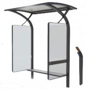Abri fumeur structure acier - Hauteur : 255 cm - Longueur : 190 cm - Largeur : 145 cm