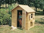Abri jardin en bois - Dimensions (l x P x H) : 1.25 x 1.00 x 1.55 m