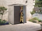Abri jardin en résine - Surface extérieure hors tout : 2m²