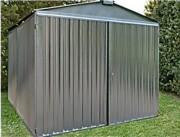Abri jardin métal brut 4m - Surface : 10.95 m² - 2,54 x 4,30 m