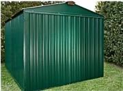 Abri jardin métallique peint 4m - Surface : 10.95 m² - 2,54 x 4,30 m