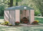 Abri métal double porte - Surface extérieure : 11.4 m²