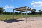 Abri métallique en kit pour multiusage - Abri métallique en kit 80m² bipente
