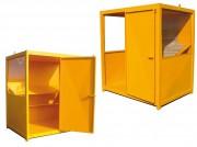 Abri mobile pour chantier - Dimensions (L x l x H) : 1500 x 1500 x 2230 ou 2000 x 2000 x 2230 mm