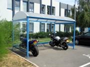 Abri moto 12130 x 2430 mm - Capacité : 6 à 36 vélos ou 4 à 18 scooters