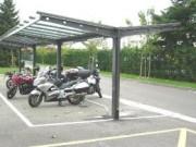 Abri moto extensible en acier - Largeur : De 3 à 5 m