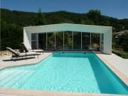 Abri piscine adossé - Hauteur minimum : 1.90  m