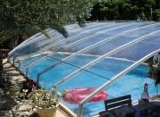 Abri piscine en profilés aluminium - Avec cintrage
