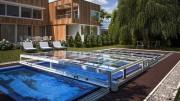 Abri piscine plat - Pour couvrir les piscines au plus bas