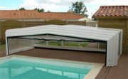 Abri piscine rétractable hauteur 1.20 m