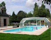Abri piscine rétractable hauteur 2,00 m