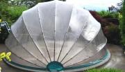 Abri piscine ronde hors sol - Tubes alu. et visserie inox - Hauteur maxi 2.00 m