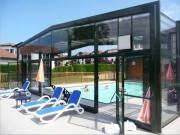Abri piscine telescopique - Hauteur : 10 à 20 m