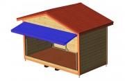 Abri pliable - Modèle standard : dimension 3.6x2.0m