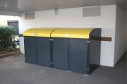 Abri poubelle avec couvercle - Capacité poubelle : 660 Litres