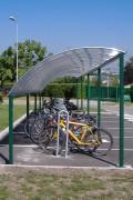 Abri pour 2 roues 24 vélos - Capacité : 6 à 24 vélos ou 3 à 12 scooters