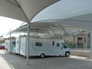 Abri pour camping car - Protection contre les UV