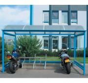 Abri pour deux roues - Capacité : de 10 à 24 vélos ou de 6 à 12 motos