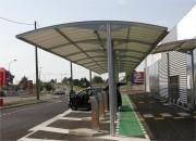 Abri pour drive moderne - Résistance à la rupture (chaîne/trame): 280/280 daN/5 cm