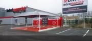 Abri pour drive supermarchés - ABRI POUR DRIVE
