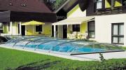 Abri pour piscine bas télescopique - Avec ou sans platines