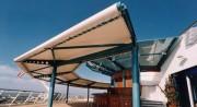 Abri pour terrasse extérieur - Textile technique et fiable