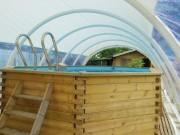 Abri rétractable piscine - Hauteur : 2,40 - 2,90 - 3,30 m - Longueur : 8, 11, 13 m