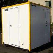 Abri sanitaire 2 portes sur skid pour chantier - S260 - 80201