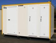 Abri sanitaire sur skid pour chantier 3.45 mètres - S 380 - 80203