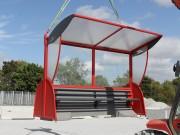 Abri station bus - Structure solide et couvetrure résistante