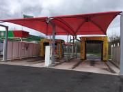Abri station carwash - Modulaire - Sur mesure