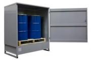 Abri stockage des fûts acier - Capacité de rétention : 320L