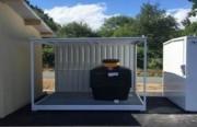 Abri stockage pour conteneur à huiles moteurs - Capacité de rétention = 1 100 L