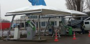 Abri sur mesure pour station de lavage - Abri en toile conforme aux normes européennes- Conception sur mesure